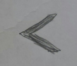 Sketching of the letter K