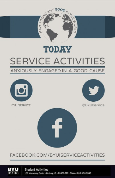 Image of Service Activities Flyer